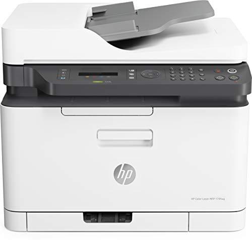 HP Color Laser 179fnw (4ZB97A) Stampante Laser Multifunzione a Colori, Stampa, Scannerizza, Fotocopia, Fax, Wi-Fi, Wi-Fi Direct, ADF, Bianca