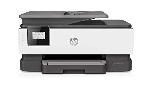 HP OfficeJet 8012 (1KR71B) Stampante Multifunzione a Getto di Inchiostro, Stampa, Scannerizza, Fotocopia, Wi-Fi, Wi-Fi Direct, Smart Tasks, Compatibile con il Servizio di Instant Ink, Nero