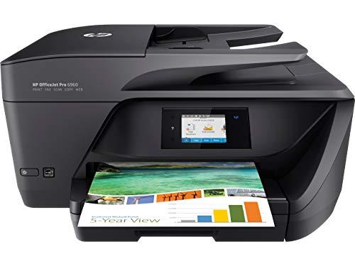 HP OfficeJet Pro 6960 T0F32A Stampante Multifunzione a Getto di Inchiostro, Stampante, Scanner, Fotocopiatrice, Fax, Wi-Fi, Ethernet, con 3 Mesi di HP Instant Ink Inclusi, Nero