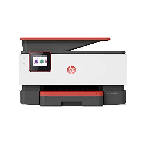 HP OfficeJet Pro 9016 3UK86B Stampante Multifunzione a Getto di Inchiostro, Stampa, Scannerizza, Fotocopia, Fax, Wi-Fi Direct, Smart Tasks, Compatibile con il Servizio di Instant Ink, Rosso