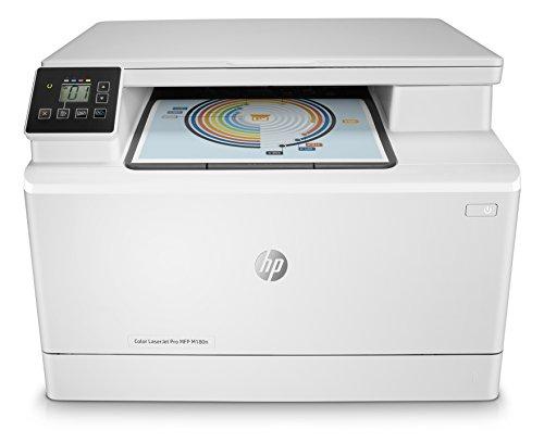 HP Stampanti Laser Pro M181fw Stampante Color LaserJet Multifunzione, 16 ppm, Bianco