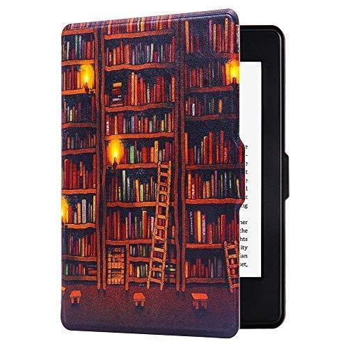 Huasiru Pittura Custodia Copertura per Amazon Kindle Paperwhite (2012, 2013, 2015, 2016 e 2017 le versioni) Case Cover con Auto Sveglio / Sonno, Biblioteca