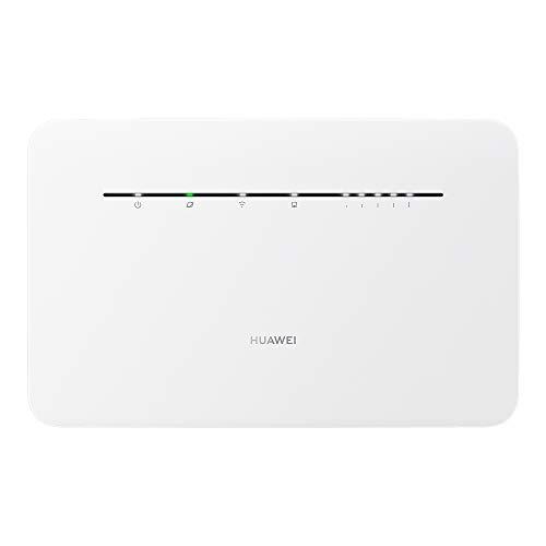HUAWEI 4G+ Router Mobile 4G Wi-Fi LTE (CAT. 7) Hotspot, Velocità di Download fino a 300 Mbps, Supporta il Wi-Fi Dual Band, la Selezione Automatica e il Beamforming, 4 Porte Ethernet Gigabit, Bianco