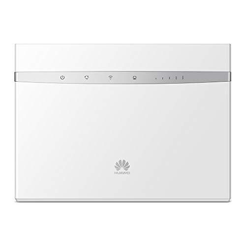 Huawei B525s-23a Router Wireless 4G da 300 Mbps con 3 Antenne Integrate, 2.4 G e 5G Dual Band, 4 Porte LAN, MicroSIM, Bianco