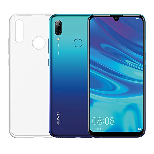 """HUAWEI P smart 2019 e Cover Trasparente, Smartphone con 64 GB, Display 6.21"""" Full HD+, Processore Octa Core Dinamico con Intelligenza Artificiale, Aurora Blue [Versione Italiana]"""