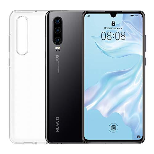 """HUAWEI P30 Smartphone e Cover, 6 GB RAM, Memoria 128 GB, Display 6.1"""" FHD+, Processore Kirin 980, Tripla Fotocamera Posteriore 40+16+8 MP, Fotocamera Anteriore da 32 MP, Nero"""