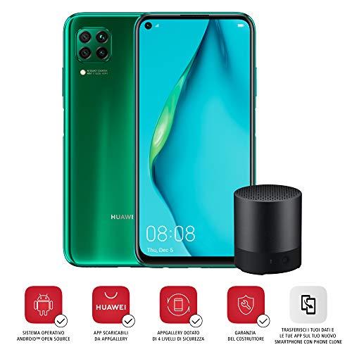 """HUAWEI P40 Lite Smartphone e Mini Bluetooth Speaker, Display Punch FullView da 6.4"""", Kirin 810 Octa Core, Verde (Versione Italiana)"""