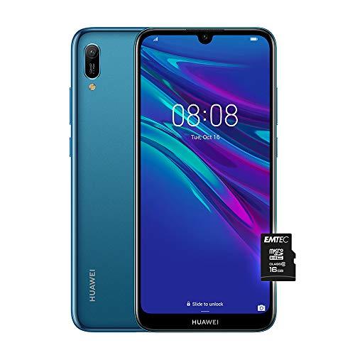 """HUAWEI Y6 2019, Smartphone con 32 GB, Display 6.09"""" HD+, Processore Quad Core, Blu [Versione Italiana]"""