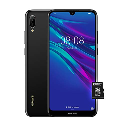 """HUAWEI Y6 2019, Smartphone con 32 GB, Display 6.09"""" HD+, Processore Quad Core, Nero [Versione Italiana]"""