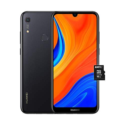 """HUAWEI Y6s e MicroSDHC 16 GB Class 10, Smartphone con 32 GB, Display 6.09"""" HD+, Processore Quad Core, Starry Nero (Versione Italiana)"""