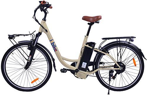 i-Bike City Easy Bicicletta Elettrica Unisex - Adulto, Nero, 180 x 90 x 32 cm