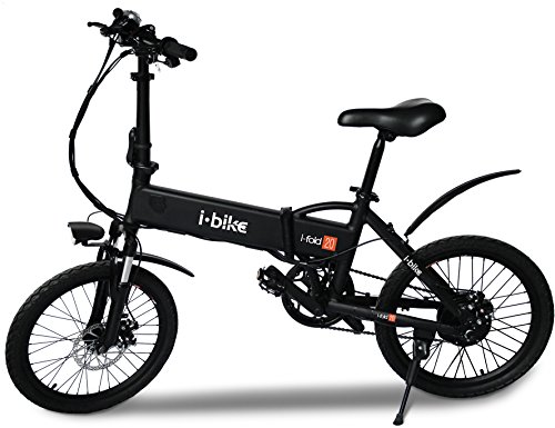 i-Bike I- Fold 20, Bicicletta Ripiegabile Elettrica con Pedalata Assistita Uomo, Nero