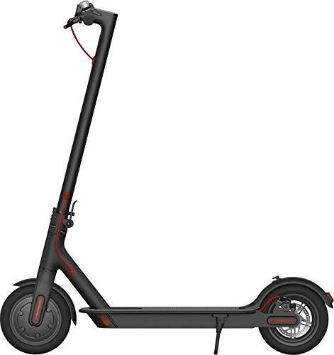 """i-Bike Mono Air 8,5"""" Monopattino Elettrico Pieghevole 350W, 20Km di autonomia, velocità fino a 25km/h, 3 livelli di assistenza, Nero/ Rosso"""