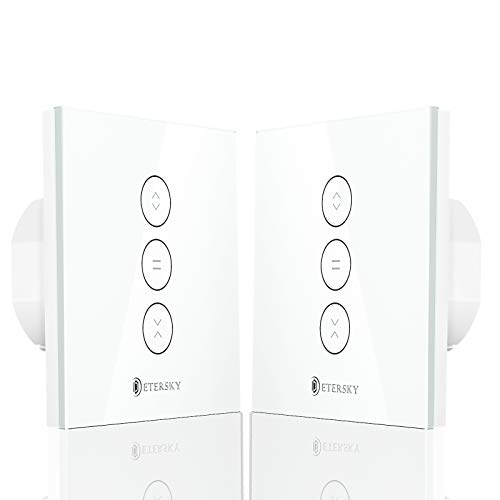 Interruttore Smart Tapparelle, Etersky Alexa Interruttore per Motore Tapparelle Elettriche, Compatibile con Echo Dot e Google Home per Controllo vocale, App Controllo con Timer, Condividere - 2 Packs