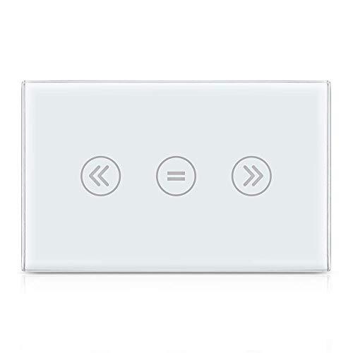 Interruttore touchscreen Smart US WiFi, comandi vocali tramite Siri, Alexa Echo, Google Home, app controllabile da remoto adatta per il controllo dei motori a tapparelle [N filo Needed]