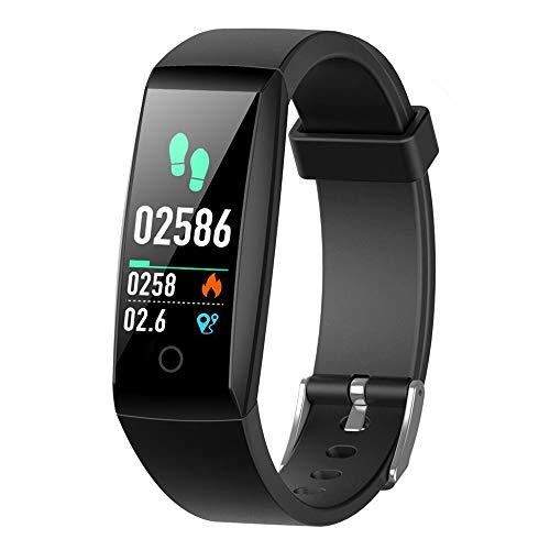 iPosible Fitness Tracker, Orologio Fitness Braccialetto Pressione Sanguigna Cardiofrequenzimetro da Polso Impermeabile IP67 Donna Uomo Bambini Smartwatch Contapassi Pedometro per iPhone Android iOS