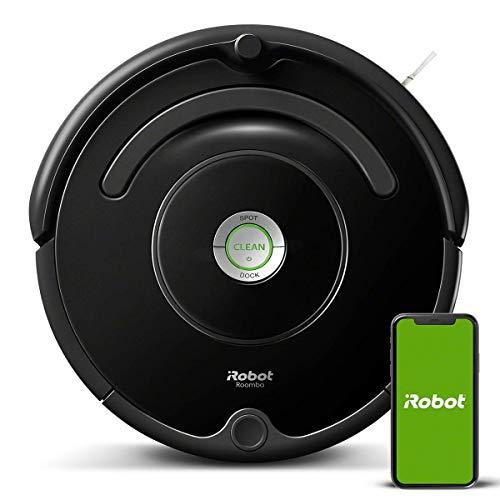 iRobot Roomba 671 Robot aspirapolvere WiFi, Adatto a tappeti e Pavimenti, Tecnologia Dirt Detect, Sistema 3 Fasi, Pulizia programmabile, Grazie alla App, Compatibile con Alexa, Nero