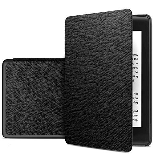 IVSO Custodia Cover per Nuovo Kindle (10th Generation, 2019), Slim Smart Protettiva Custodia Cover in Pelle PU per Nuovo Kindle (10ª Generazione, Modello 2019) E-Reader, Black