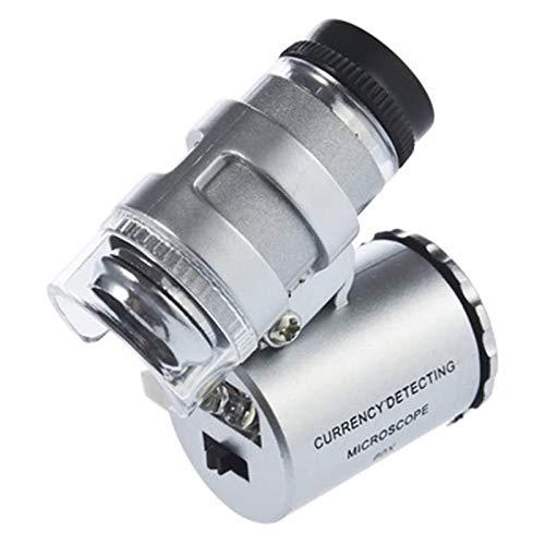 KIMILAR Microscopio Tascabile 60X, Microscopio Portatile Led, Lente Ingrandimento con Luce
