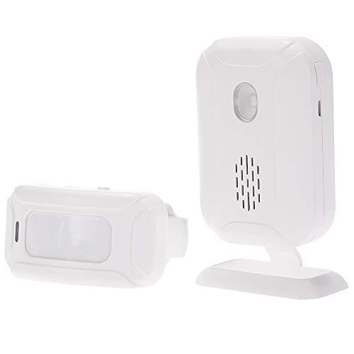 KKmoon Campanello Wireless Split Benvenuto Ospite Campanello Rilevamento del Movimento Sensore PIR Sistema di Allarme con Ricevitore e Trasmettitore per Casa Ufficio di Protezione di Sicurezza