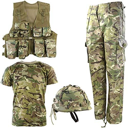 Kombat UK, Set Militare Coordinato per Bambini BTP, Set Militare n° 1, Bambino, BTP No1, British Terrain Pattern, 11-12 Anni