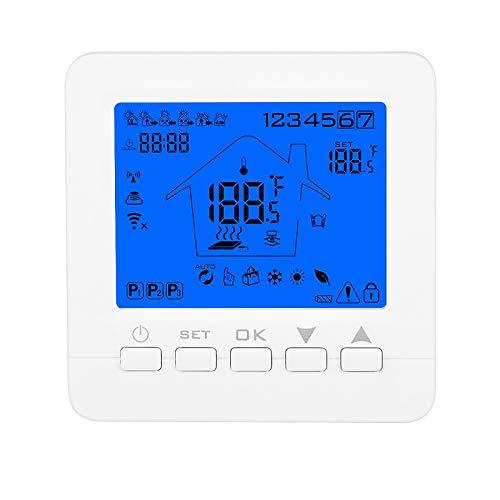 Konesky Termostato wifi Termostato intelligente per Caldaia a Gas/Acqua Digitale Regolatore di Temperatura Programmabile con Alexa Google Home