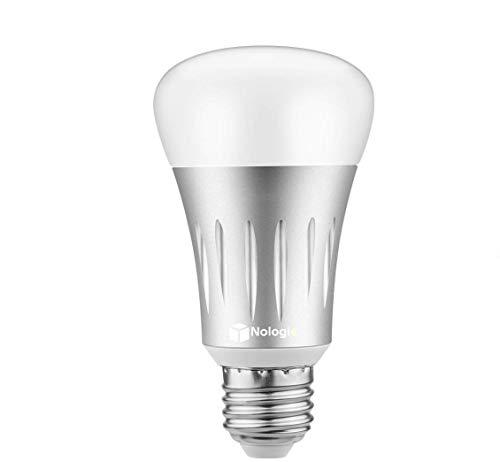 Lampadina Smart LED Intelligente WiFi Multicolore [ E27-7W ] ,Accesso Remoto,Funzione di Cronometraggio,Funziona con Amazon Alexa e Google Home Telecomandato