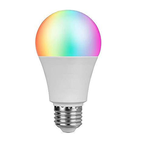 Lampadine WiFi Smart Compatibili con Amazon ALEXA e Google Home Voice Control Wake Up Lamp No Hub Obbligatorio - Regalo E14 to E27 LED Bulb Base Adapters