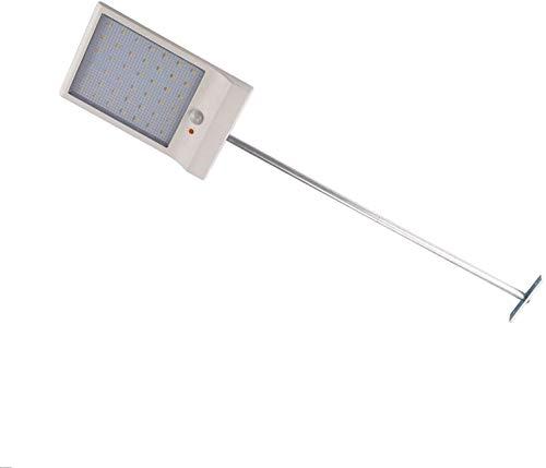 LEDMO 36leds luci solari led ,lampade solari da esterni bianco 6000K 450LM,3 modi intelligenti lampade da esterno,Illuminazione Giardino da Esterno per Parete, Muro, Terrazzino, Cortile(1 pack)