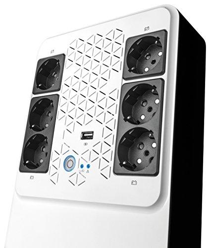 Legrand UPS BTicino 310082 Gruppo di Continuità New Keor Multiplug con Caricatore USB, 800 VA/480 W
