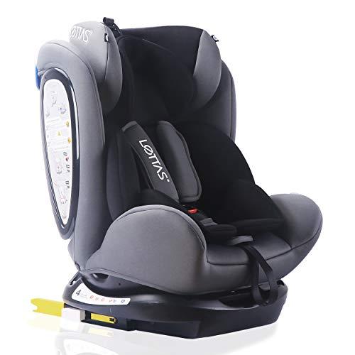 LETTAS Seggiolino auto gruppo 0+1/2/3 Fascia d'età: Bambini da 0 mesi a 12 anni - da 0 a 36 kg,reclinabile 4 posizioni - protezioni laterali - poggiatesta regolabili ECE R44/04-Blu