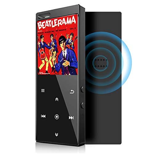 Lettore MP3 da 16 GB con Bluetooth 4.2, lettore musicale Audio digitale portatile Lossless Sound Lettore musicale con radio FM/Picture/E-book, supporto espandibile fino a 64G, cuffie incluse
