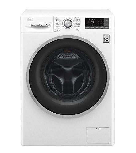 LG F4J7TN1W lavatrice Libera installazione Caricamento frontale Bianco 8 kg 1400 Giri/min A+++-40%, Senza installazione
