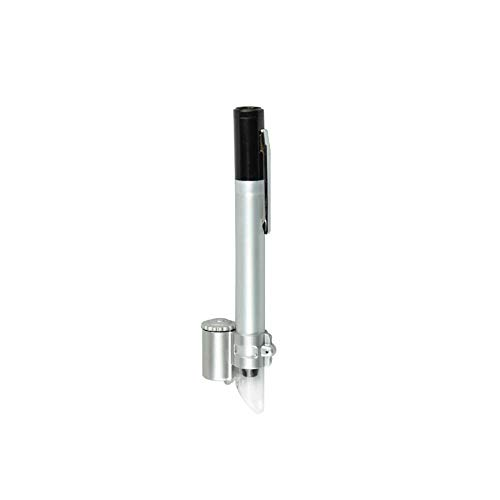 LIBINFAN 2 Lente per Microscopi Tascabili Illuminata A LED 5X con Lente di Ingrandimento. Lente Portatile Ingranditore di osservazione Mini Portatile ingran