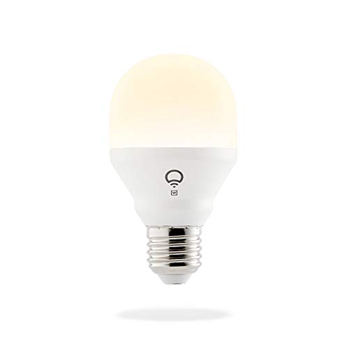 LIFX Mini White (E27) Lampadina a LED Wi-Fi Smart, regolabile, bianco caldo, non richiede un hub, funziona con Alexa, Apple HomeKit e Google Assistant