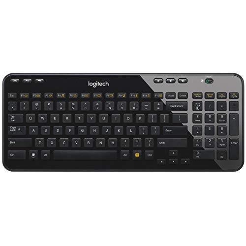 Logitech K360 Tastiera Wireless, USB, Layout Italiano QWERTY, Nero