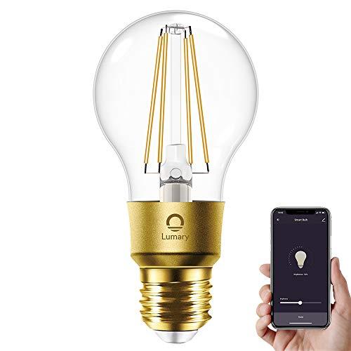 Lumary Smart WiFi Vintage Lampadina Edison Dimmerabile E27,equivalente a 60 W,700 lm, Lampadina a Filamento,Ideale come regalo di Natale,Compatibile con Alexa&Google Home (hub non richiesto)