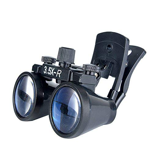 Magnifier 3.5X-r Chirurgico Binoculari Clip Lenti di Ingrandimento con Lente d'Ingrandimento per Testa di Laboratorio Clip-on Fauay