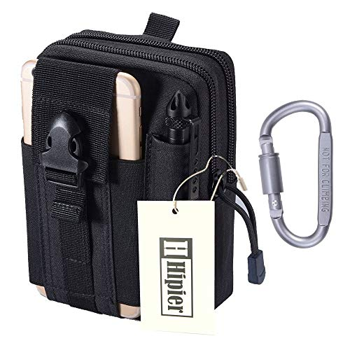 Marsupio Tattico Militare da Cintura MOLLE Utility Tactical Pouch Sport Uomo Impermeabile Bag per Attività all'aperto Hiking Campeggio Ciclismo Pesca (nero)