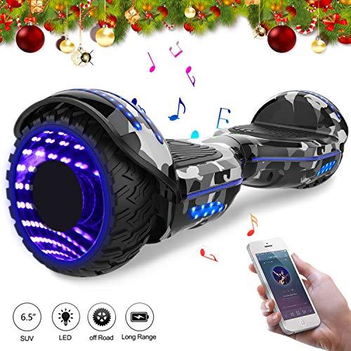 Mega Motion Self Balance Scooter Elettrico 6.5'' E-Star,Scooter Elettrico Auto bilanciamento, Ruote con LED, Tenda LED, Altoparlante Bluetooth, Motore 700W,Modello E-Star