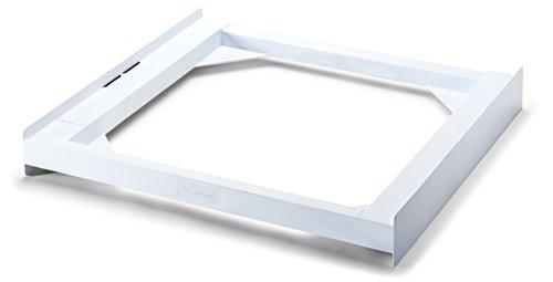 Meliconi Base Torre Basic, kit di Sovrapposizione Universale per lavatrice e asciugatrice in poliuretano bianco, cinghia di sicurezza inclusa. Made in italy