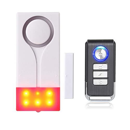 Mengshen Allarme audio allarme senza fili allarme sensore magnetico per la sicurezza domestica della porta - 1 telecomando e 1 allarme M70