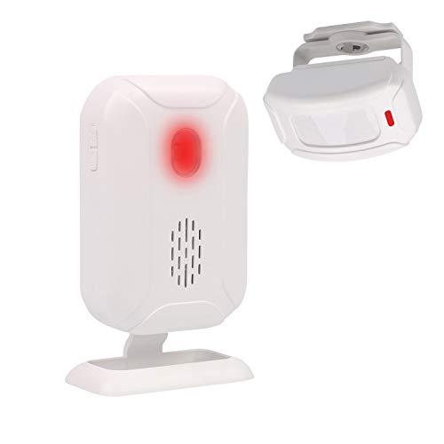 Mengshen Wireless sensore di movimento a raggi infrarossi per allarme antifurto per negozio di casa - 1 sensore e 1 ricevitore YBQ04