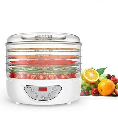MLITER Essicatore Disidratatore Alimenti 240w professionale PBA FREE 5 scomparti temperatura regorabile 35-70° timer programmabile per essicare frutta verdure Pomodori