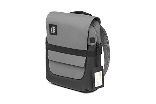 Moleskine ID Collection Zaino da Lavoro Professionale Waterproof Device Backpack per Tablet, Laptop, PC, Notebook e iPad Fino a 15'', Dimensioni 27 x 11 x 36 cm, Colore Grigio Ardesia