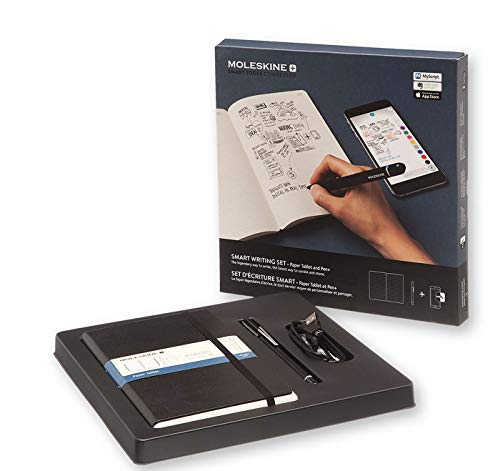 Moleskine Smart Writing Set Notebook e Pen+ Smartpen, Taccuino con Copertina Rigida Nera Adatta all'Uso con Pen Moleskine+ , Colore Nero, Fogli Puntinati