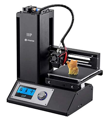 Monoprice Select Mini V2 3D Printer Mini Stampante 3D con piano di stampa riscaldato e adattatore di corrente per l'Europa (Tipo F) 121872