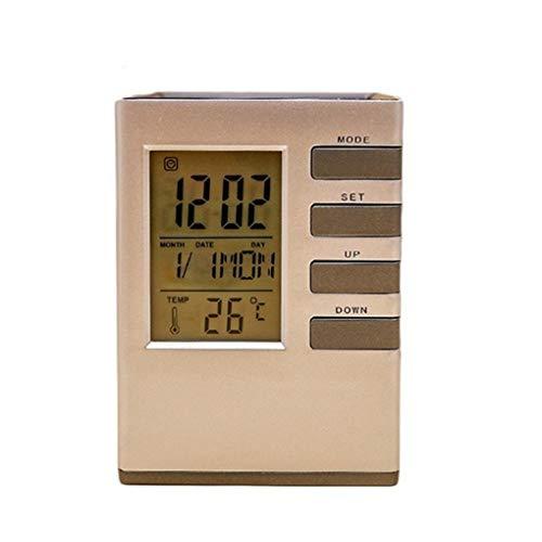Morza Schermo LCD Orologio da Tavolo Digital Desk Allarme Agenda Holder Termometro Orologio Office Home Pen