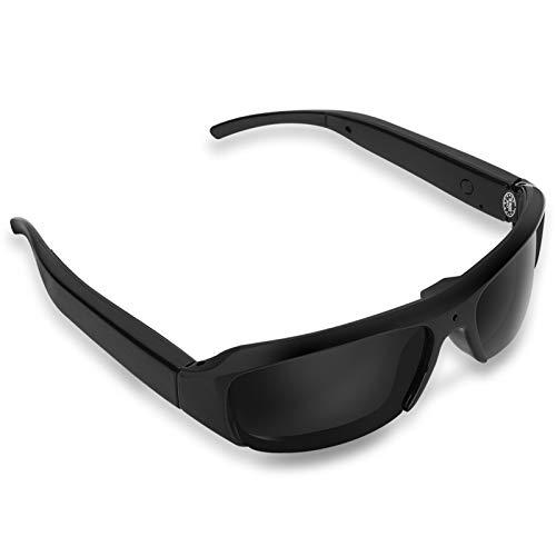 Mugast Occhiali per Fotocamere Digitali Fotocamera per Occhiali da Sole Full HD 1080P con schede 32G TF per Qttività all'aperto, Ciclismo, Sci, ECC.