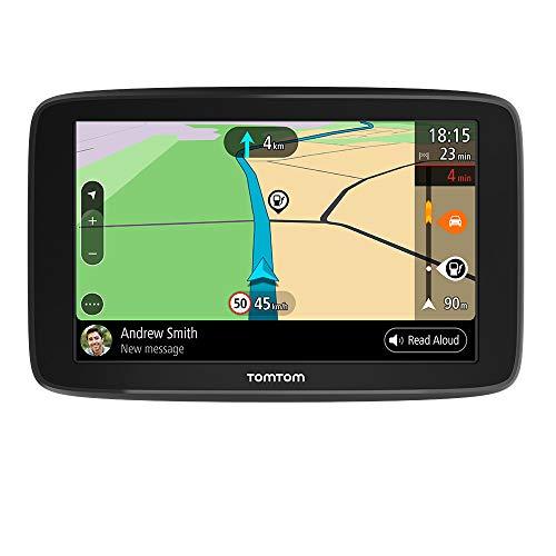 Navigatore TomTom GO Basic GPS, 6 Pollici, con Aggiornamenti Tramite Wi-Fi, Traffic a Vita Tramite Smartphone e Mappe UE, Messaggi dello Smartphone, Schermo Resistivo